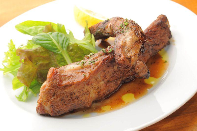 肉料理の食べ方イメージ画像