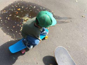 スケートボード練習