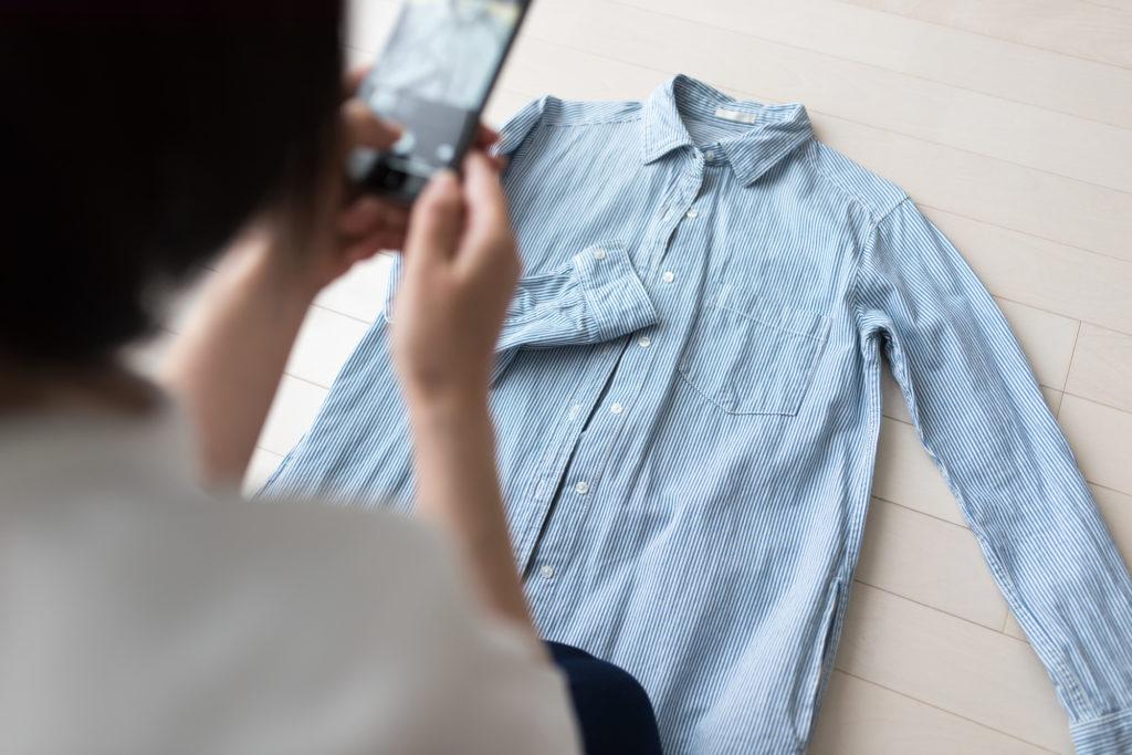 ミニマリスト 服を写メで撮る