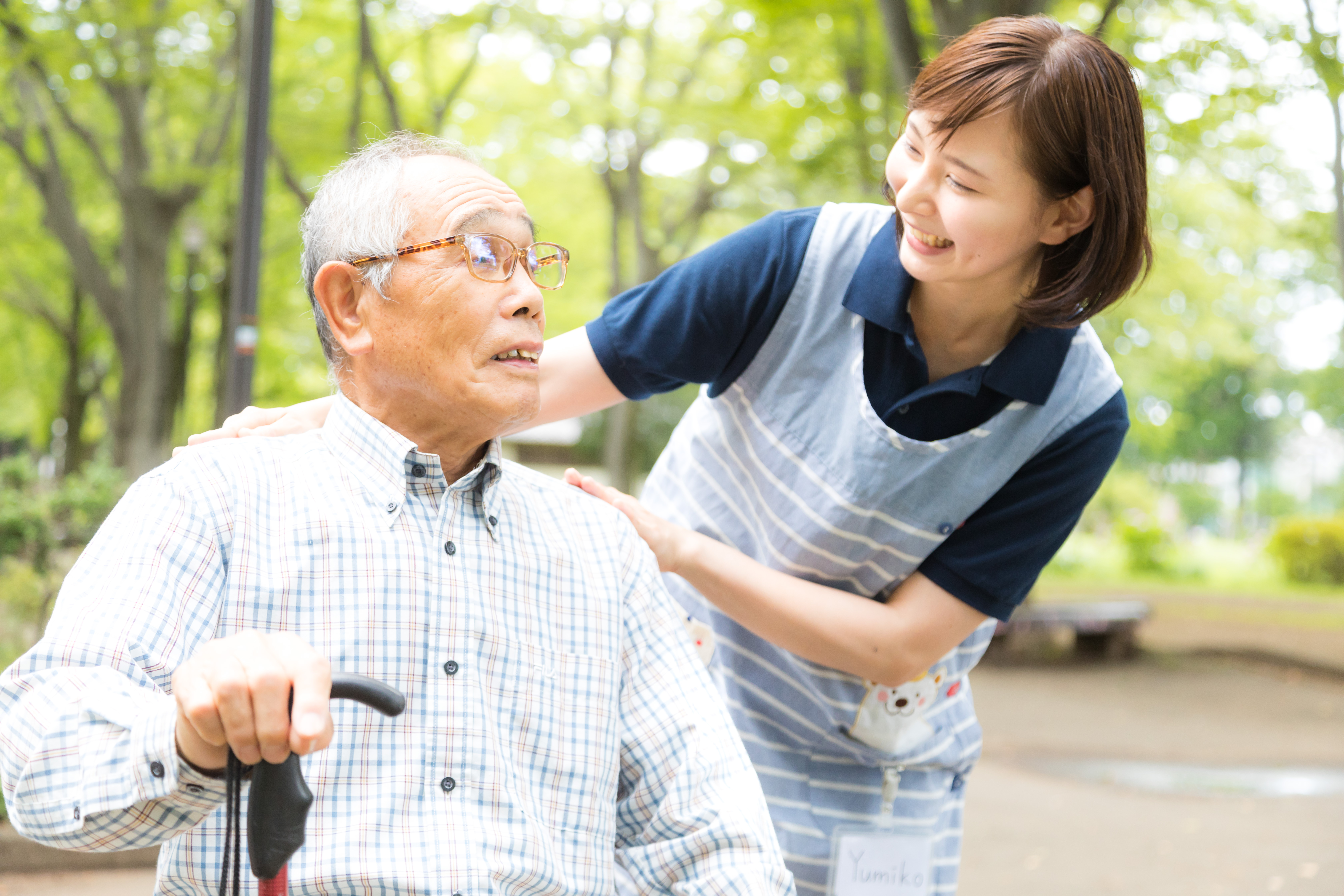 介護士とお爺さん