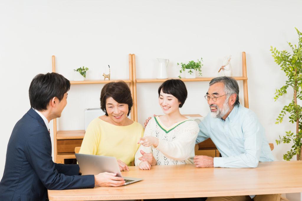 介護について、家族と相談