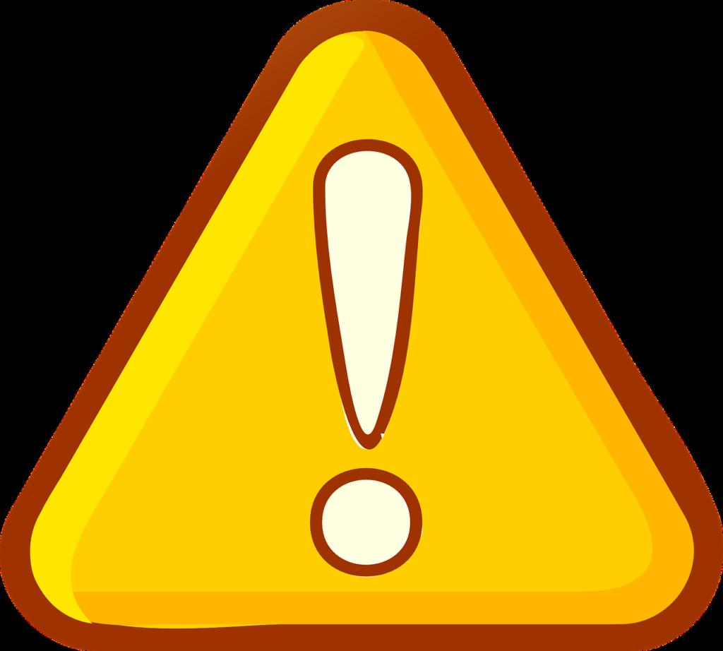 注意点の標識