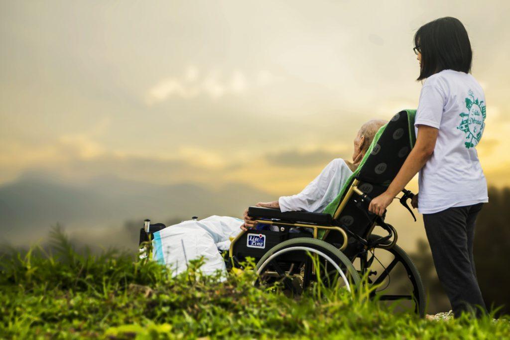 介護と散歩