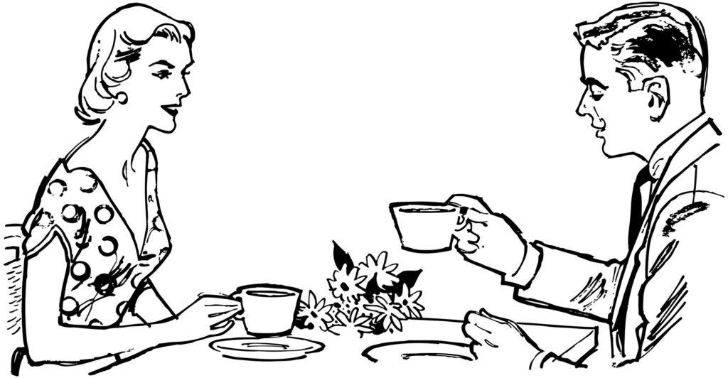 喫茶店のカップル