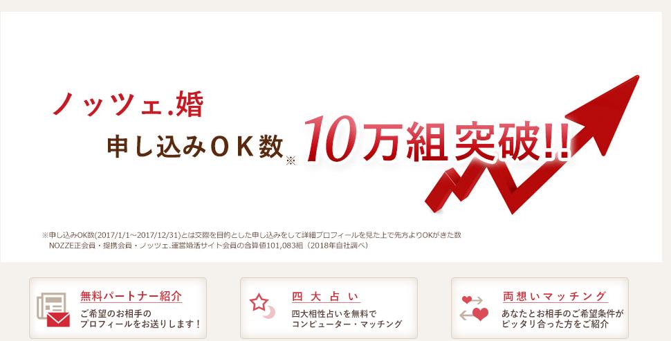 結婚相談所・お見合い・婚活なら - 結婚相談所 NOZZE.(ノッツェ.)